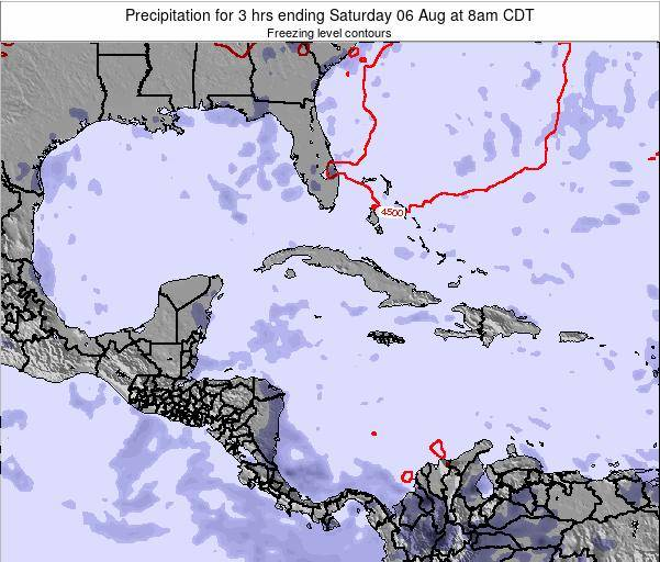 The Bahamas Precipitation for 3 hrs ending Wednesday 22 May at 2am CDT