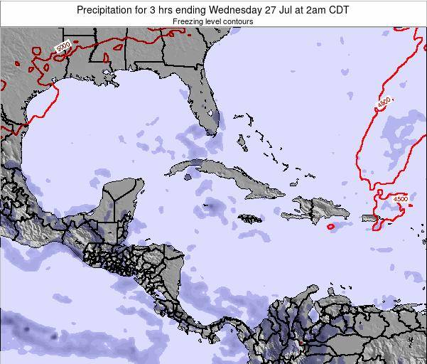 The Bahamas Precipitation for 3 hrs ending Friday 18 Apr at 8am CDT