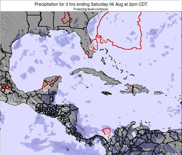 The Bahamas Precipitation for 3 hrs ending Saturday 26 Jul at 8am CDT