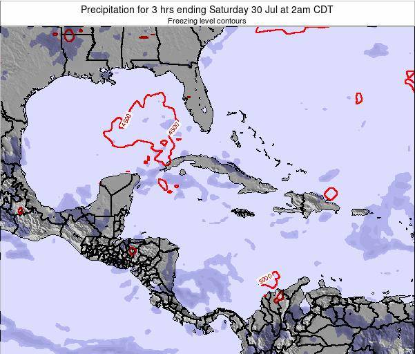 The Bahamas Precipitation for 3 hrs ending Friday 06 Mar at 7am CST