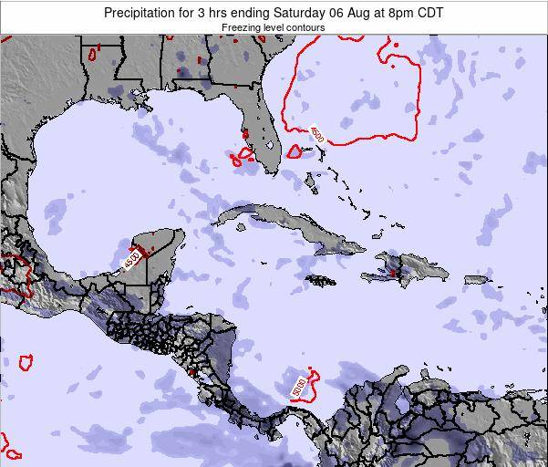 The Bahamas Precipitation for 3 hrs ending Wednesday 29 Apr at 8pm CDT