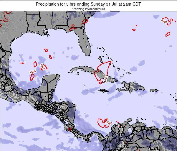 The Bahamas Precipitation for 3 hrs ending Wednesday 12 Mar at 2pm CDT