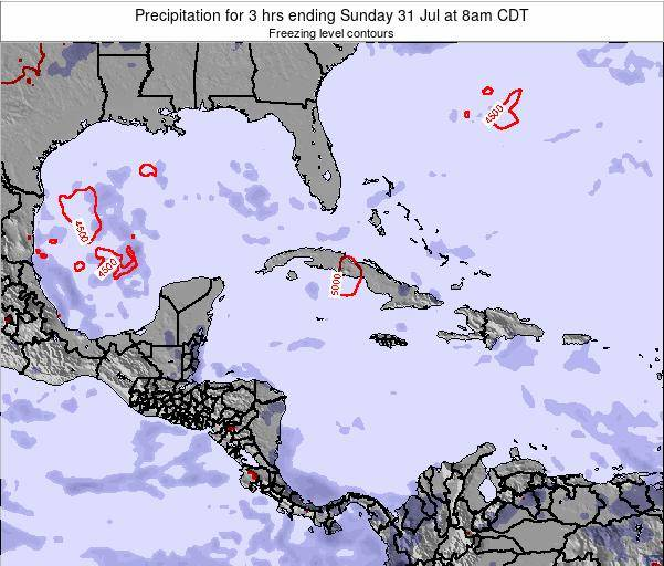 The Bahamas Precipitation for 3 hrs ending Monday 27 May at 8am CDT map