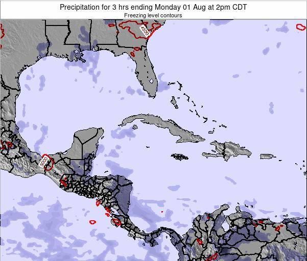 The Bahamas Precipitation for 3 hrs ending Saturday 19 Apr at 8pm CDT