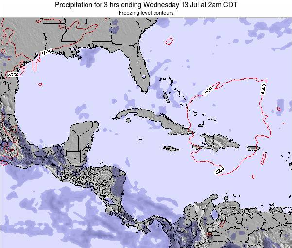 The Bahamas Precipitation for 3 hrs ending Thursday 24 Apr at 2pm CDT