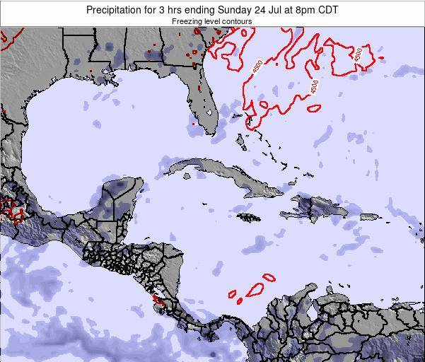 Cayman Islands Precipitation for 3 hrs ending Wednesday 22 May at 2am CDT