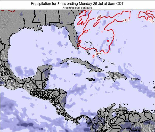 The Bahamas Precipitation for 3 hrs ending Thursday 24 Jul at 8am CDT