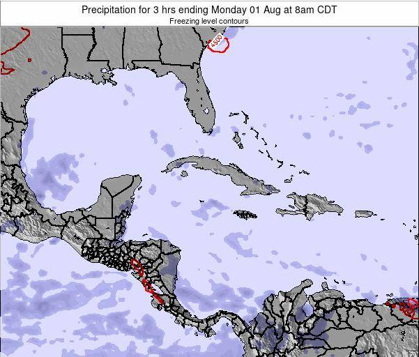 Cayman Islands Precipitation for 3 hrs ending Tuesday 21 May at 2am CDT