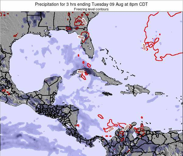 The Bahamas Precipitation for 3 hrs ending Friday 01 Aug at 8am CDT