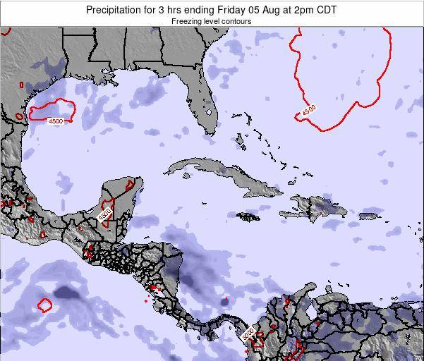 The Bahamas Precipitation for 3 hrs ending Wednesday 12 Mar at 8am CDT