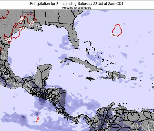 The Bahamas Precipitation for 3 hrs ending Sunday 27 Apr at 8pm CDT