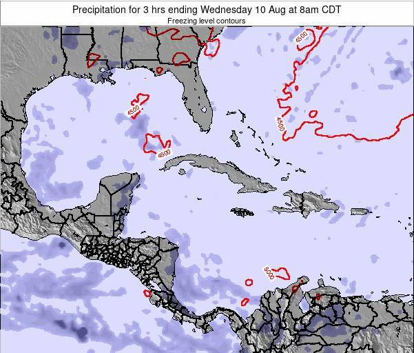 Cayman Islands Precipitation for 3 hrs ending Thursday 23 May at 2am CDT
