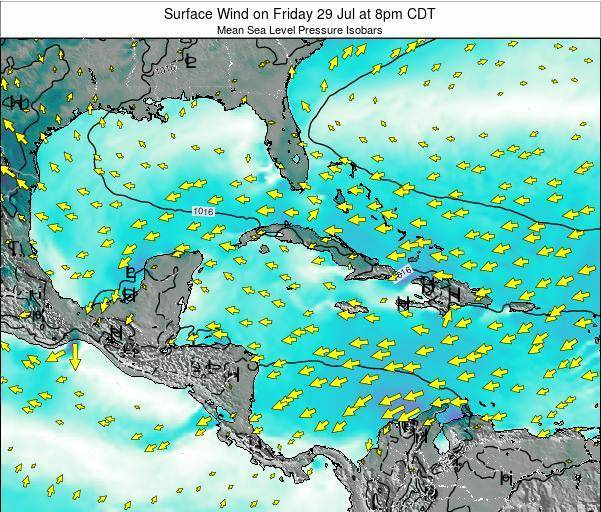 The Bahamas Surface Wind on Thursday 23 May at 8am CDT