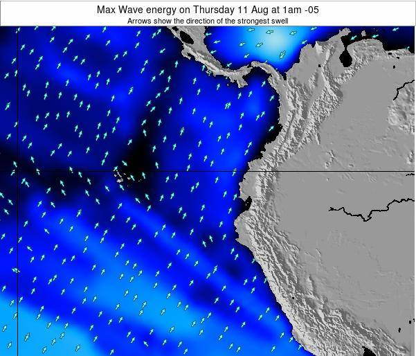 Ecuador Max Wave energy on Monday 24 Jun at 7am ECT