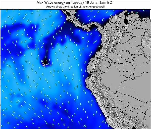 Ecuador Max Wave energy on Sunday 20 Apr at 7pm ECT