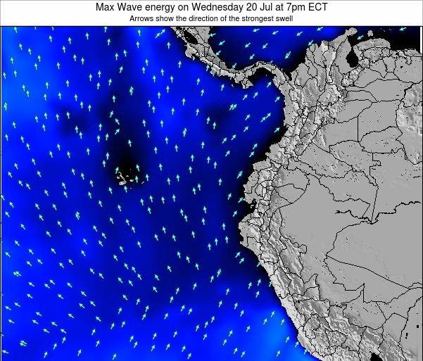 Ecuador Max Wave energy on Monday 28 Jul at 7am ECT
