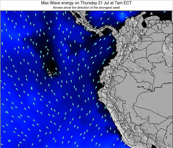 Ecuador Max Wave energy on Tuesday 29 Apr at 1pm ECT
