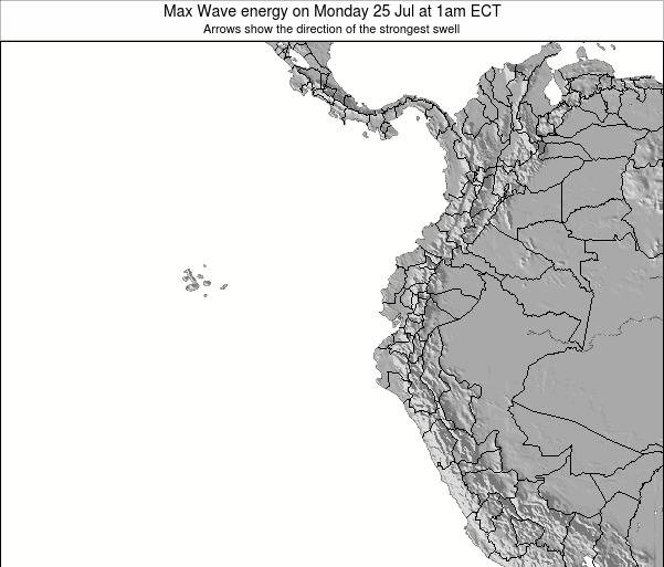 Ecuador Max Wave energy on Friday 08 Aug at 1am ECT