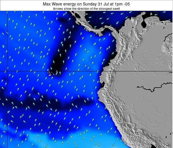 Ecuador Max Wave energy on Sunday 26 May at 7pm ECT