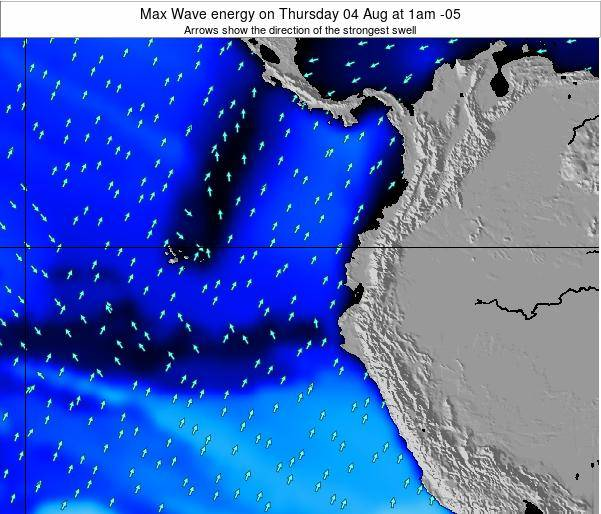 Ecuador Max Wave energy on Tuesday 28 May at 1am ECT
