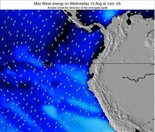 Ecuador Max Wave energy on Tuesday 28 May at 1pm ECT