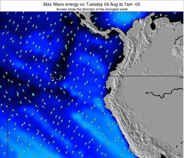 Ecuador Max Wave energy on Monday 27 May at 7pm ECT