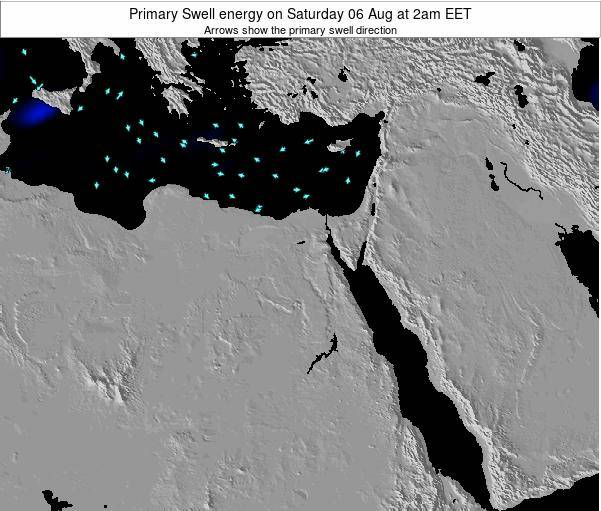 Egypt Primary Swell energy on Saturday 20 Oct at 2pm EET map