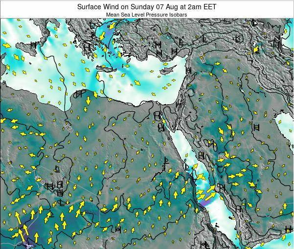 Egypt Surface Wind on Sunday 26 May at 8am EET map