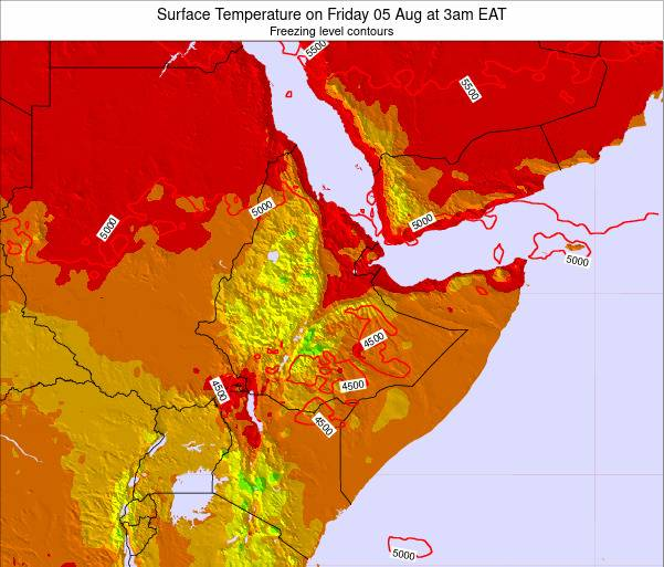 Yemen Surface Temperature on Wednesday 29 May at 3pm EAT map
