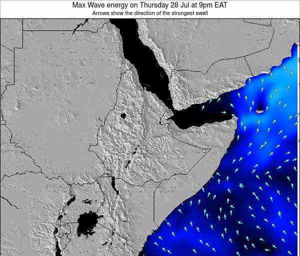 Somalia Max Wave energy on Saturday 29 Nov at 3am EAT