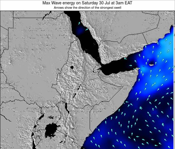 Somalia Max Wave energy on Thursday 24 Aug at 3am EAT
