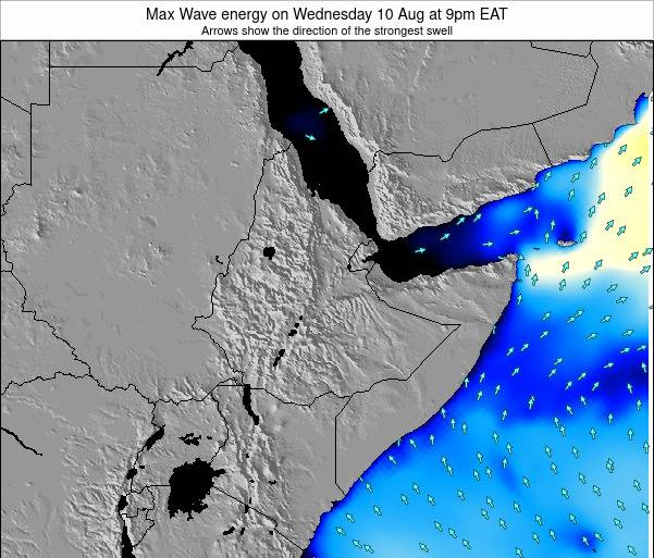 Somalia Max Wave energy on Tuesday 26 Aug at 3pm EAT