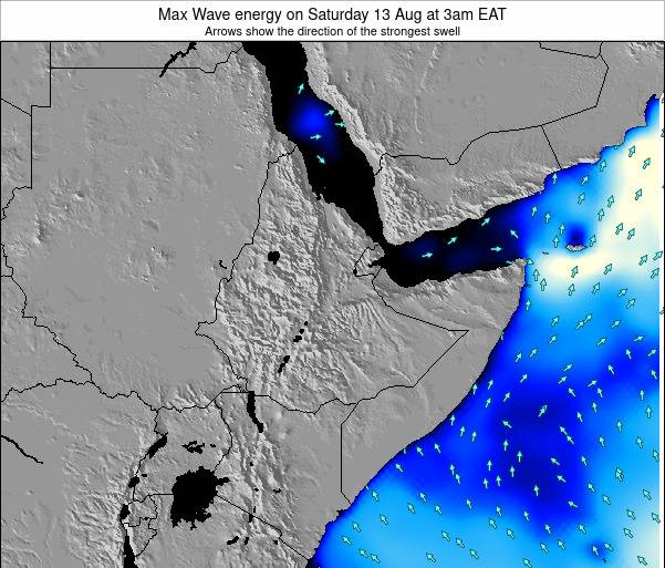 Somalia Max Wave energy on Monday 17 Mar at 3am EAT