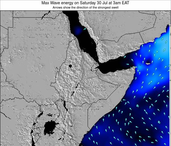 Somalia Max Wave energy on Thursday 31 Jul at 9am EAT