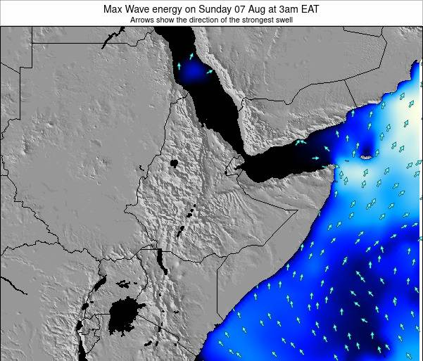 Somalia Max Wave energy on Sunday 11 Oct at 3am EAT