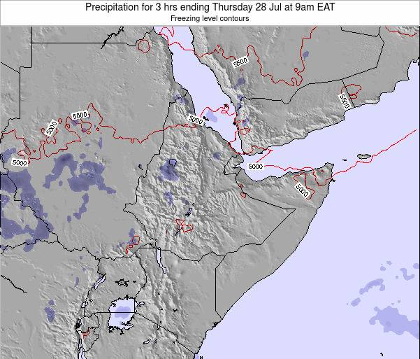 Yemen Precipitation for 3 hrs ending Tuesday 28 May at 3pm EAT