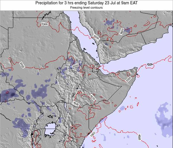 Eritrea Precipitation for 3 hrs ending Monday 24 Sep at 9am EAT map