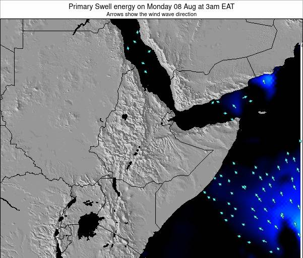 Yemen Primary Swell energy on Saturday 19 Apr at 3am EAT