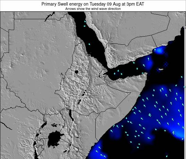 Yemen Primary Swell energy on Friday 01 Aug at 3am EAT
