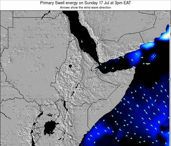 Yemen Primary Swell energy on Monday 21 Aug at 3am EAT