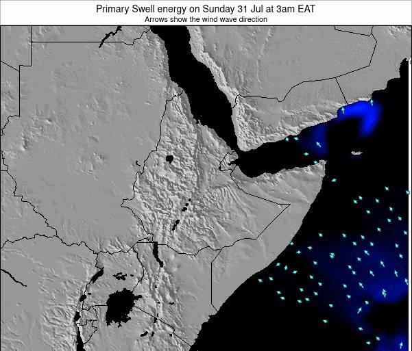 Yemen Primary Swell energy on Sunday 19 May at 3pm EAT