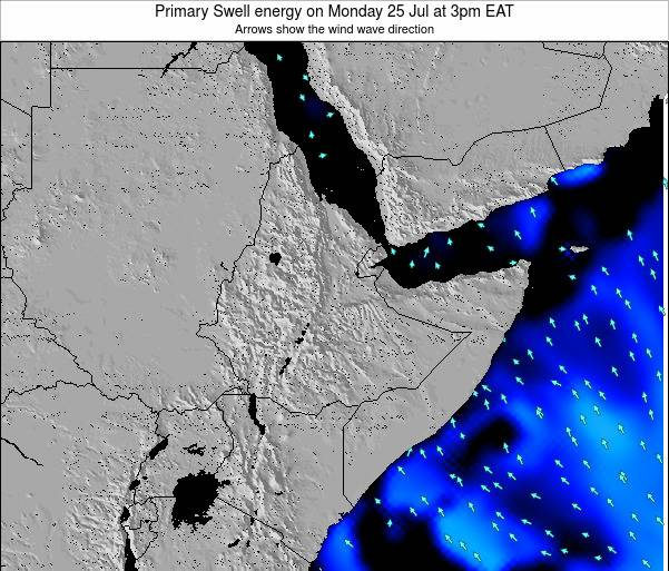 Yemen Primary Swell energy on Saturday 26 Jul at 3am EAT