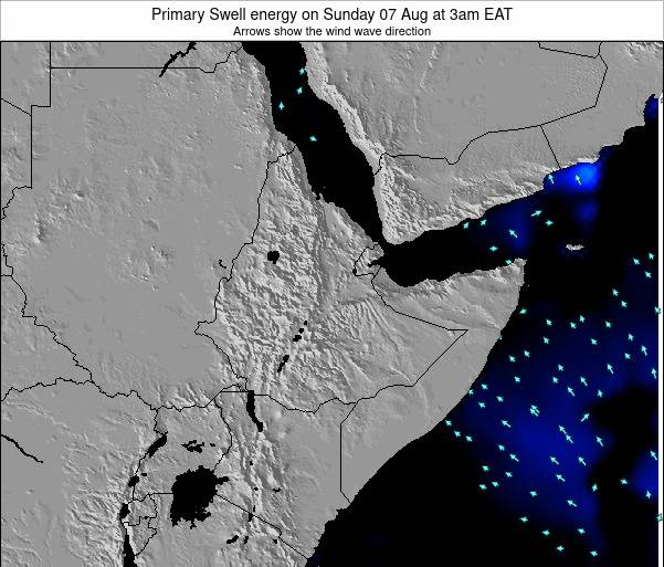 Yemen Primary Swell energy on Thursday 24 Apr at 3am EAT