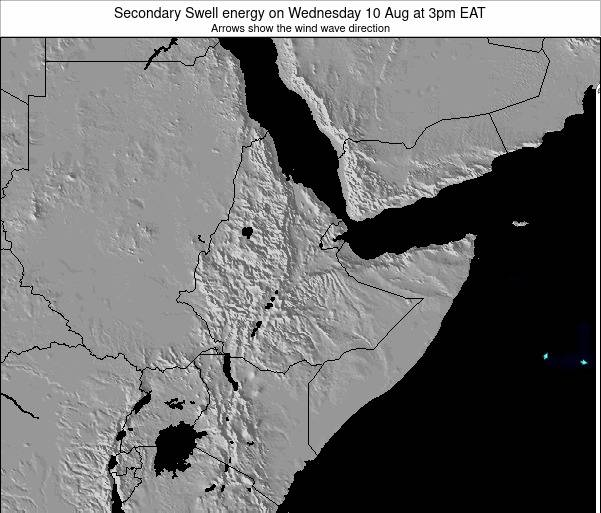 Somalia Secondary Swell energy on Saturday 22 Dec at 9pm EAT map