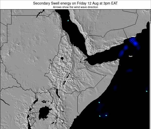 Somalia Secondary Swell energy on Monday 09 May at 9pm EAT