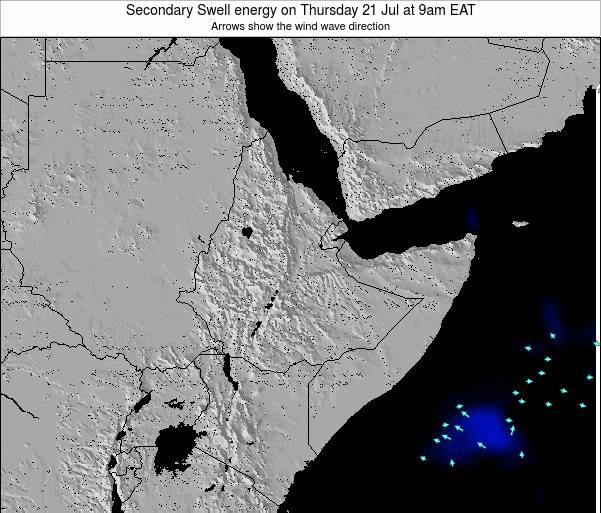 Yemen Secondary Swell energy on Thursday 27 Sep at 3am EAT map