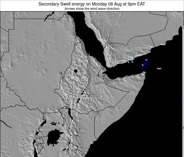 Yemen Secondary Swell energy on Saturday 07 Dec at 3pm EAT