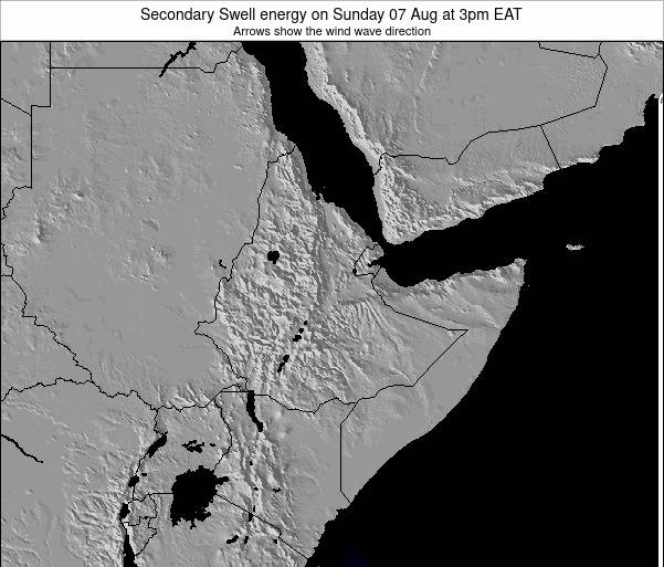 Somalia Secondary Swell energy on Saturday 07 Dec at 3pm EAT