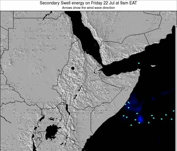 Yemen Secondary Swell energy on Wednesday 12 Mar at 9am EAT
