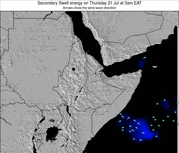 Somalia Secondary Swell energy on Monday 27 May at 9pm EAT